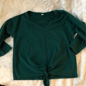Deep Green Knotted Top